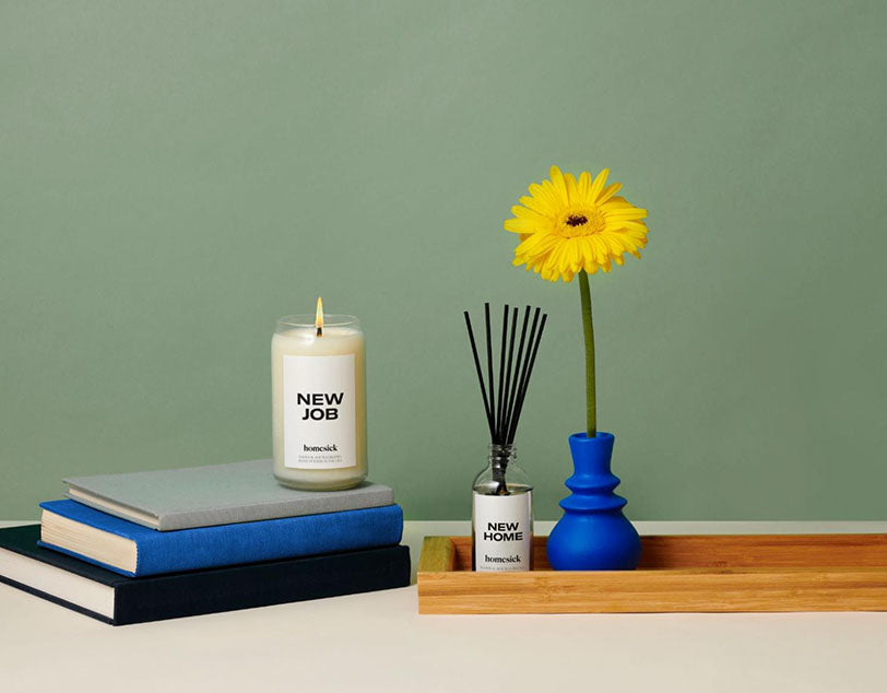 new job home candle diffuser