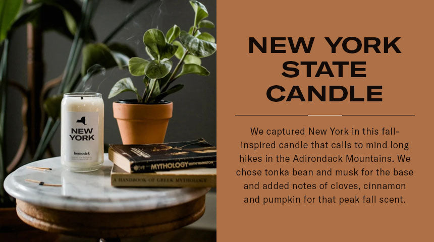 new york state candle graphic