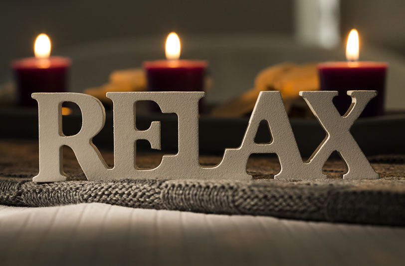 relax concept with candles
