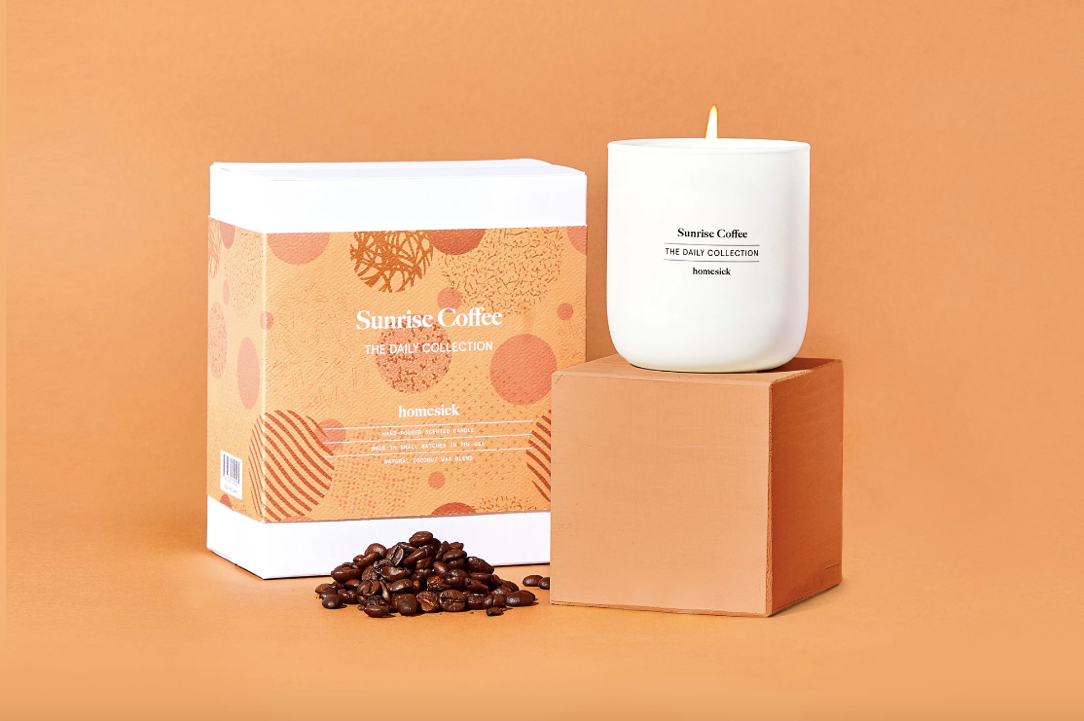 sunrise coffee candle