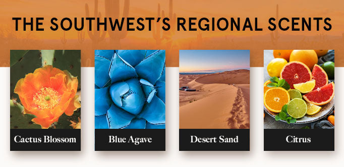 southwest's regional scents graphic