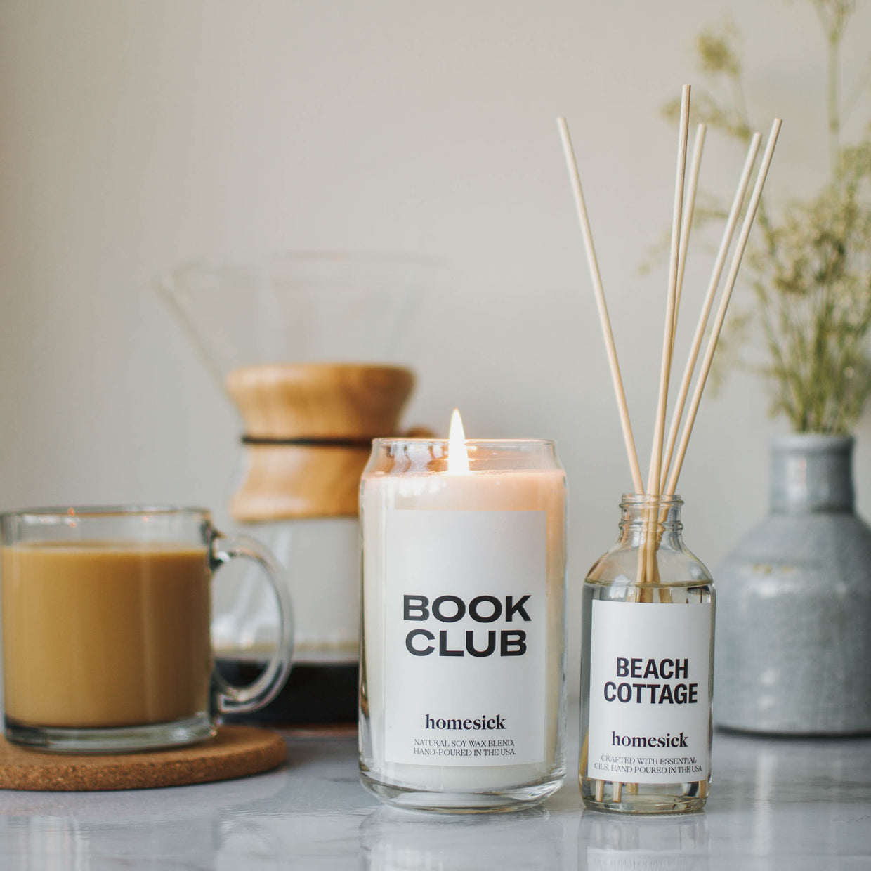 pinterest book club candle gift