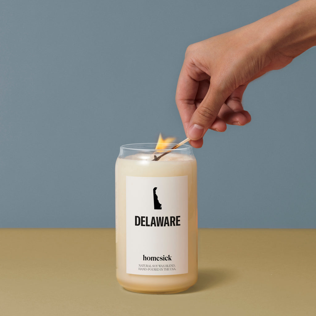Delaware Candle Strawberry Scented Candles Homesick
