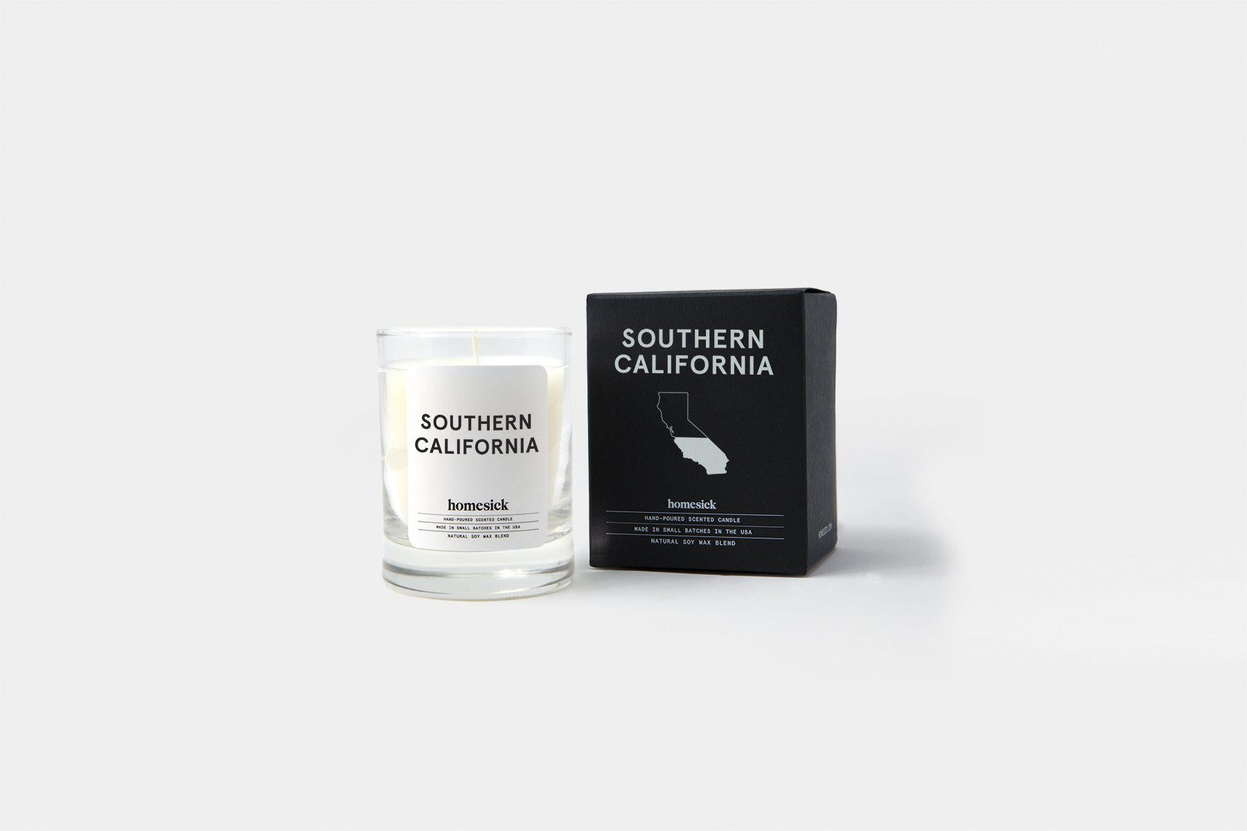 Southern California Wall Map, California Socal Mini Candle, Southern California Wall Map