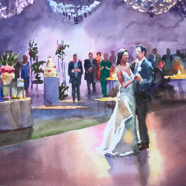 "Wedding Print | Purvis | 11"" x 11"""