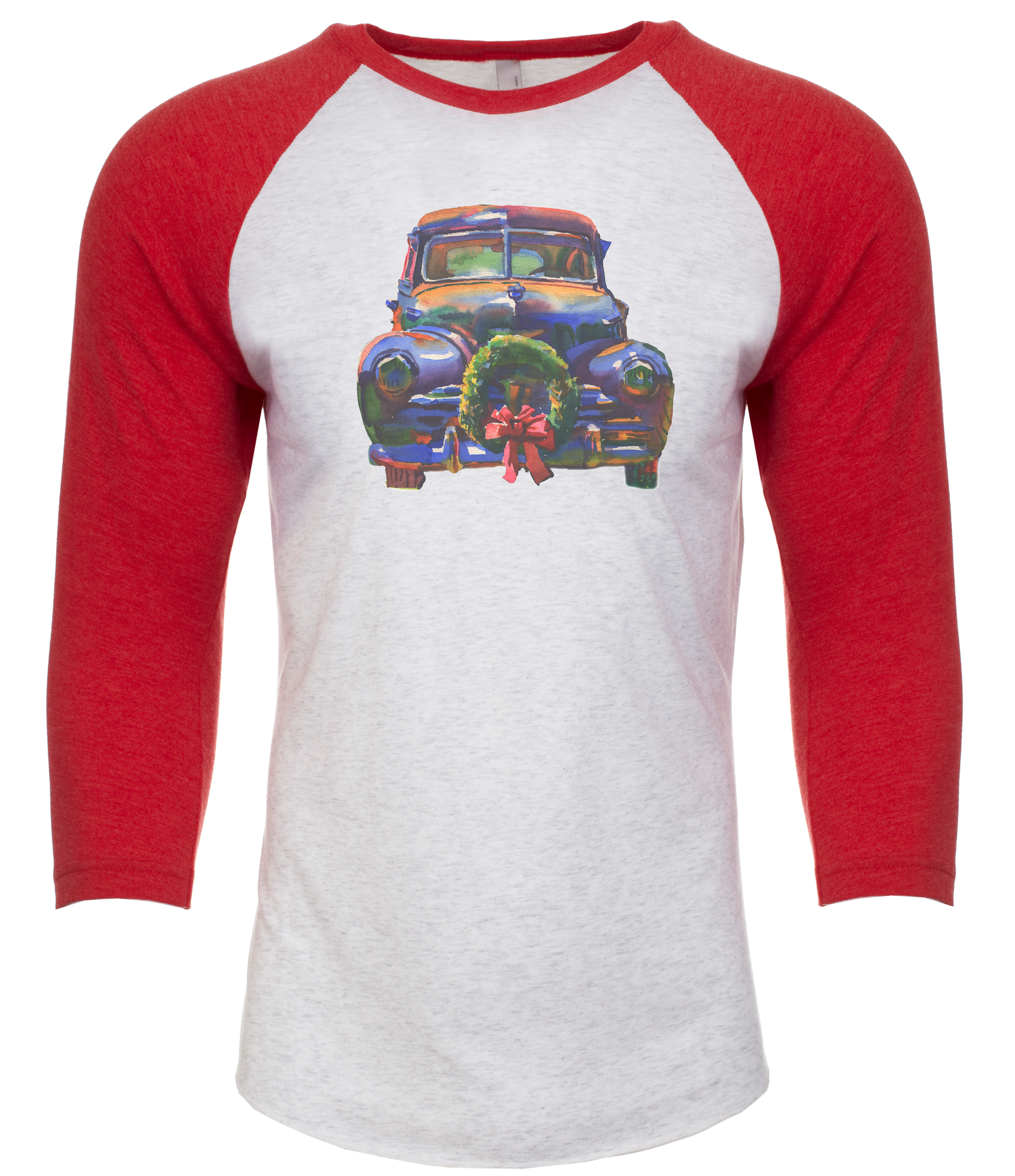 Baseball T-shirt | Christmas Car Wreath