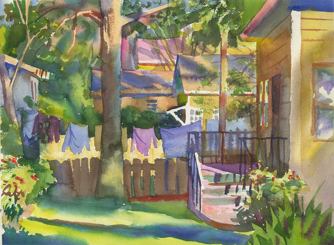 Landscape | Clothesline Between Houses