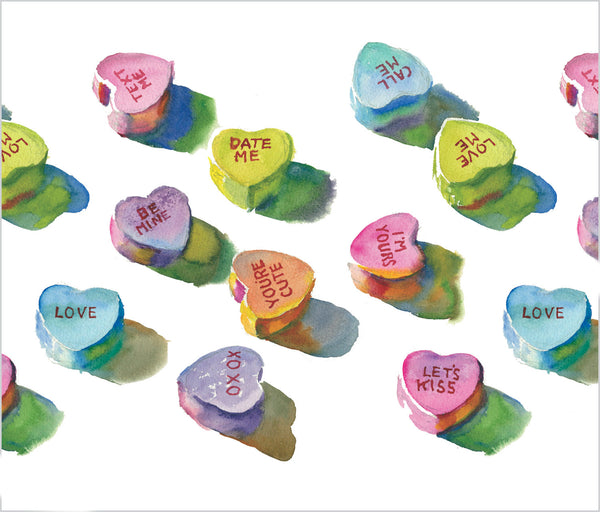 Greeting Card | Candy Hearts