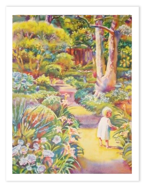 Lithograph | Garden Path