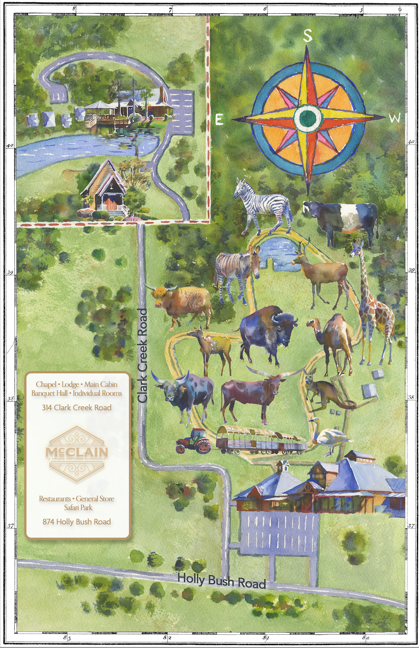 McClain Lodge Collection | Map