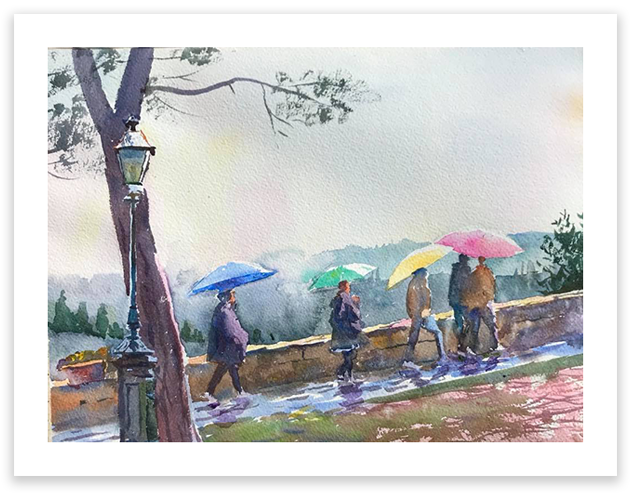 Print | Flowers in the Rain