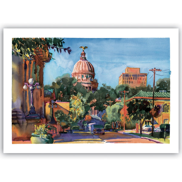 """The New Capitol"" Giclee Print"
