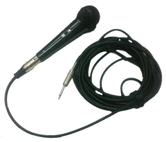 "Rental Wired Microphone and 20' Cable with 1/4"" Plug - Seattle Karaoke - Rental - Rental Microphones & Stands"