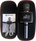 Magic Sing MP-30 Streaming Bluetooth Microphone & Speaker Built-in System (1 Year Free Access to over 250,000 songs in 14 languages)