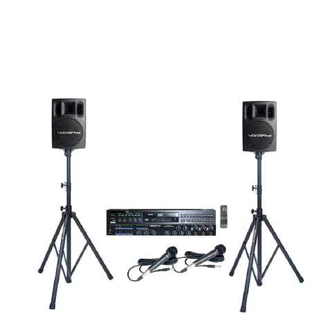 A-2: Additional Mixer and Powered Speakers - Seattle Karaoke - Rental - Systems w/ English Songs