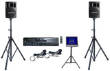 Rental Package A-3:<br>Karaoke System with 12,310 English songs,<br>Mixer, Powered Speakers &<br>Video Monitor w/ Stand - Seattle Karaoke - Seattle Karaoke - Systems w/ English Songs - 1