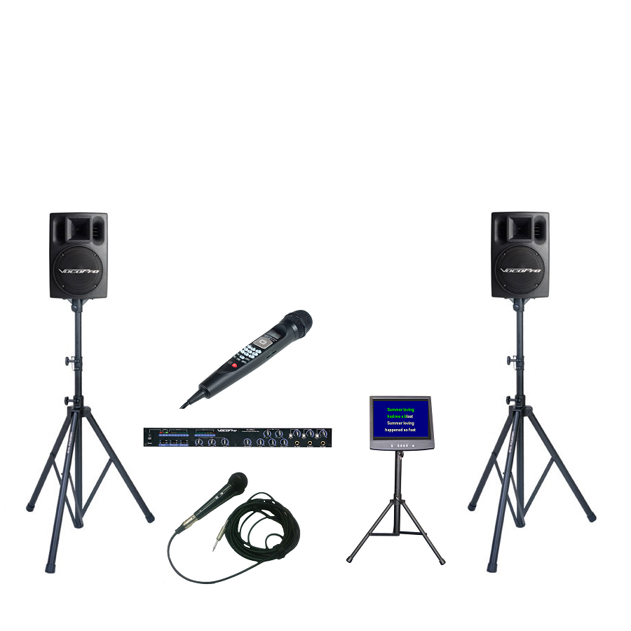 CV-3: Additional Mixer, Powered Speakers and TV w/ Stand - Seattle Karaoke - Rental - Systems w/ English Songs