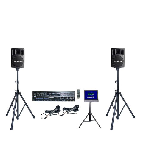 A-3: Additional Mixer, Powered Speakers and TV w/ Stand - Seattle Karaoke - Rental - Systems w/ English Songs