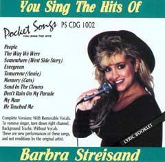 PSG-1002 Barbra Streisand - Seattle Karaoke - Pocket Songs - English - CDG