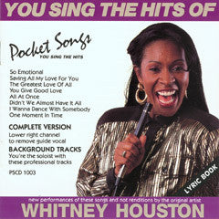 PSG-1003 Whitney Houston - Seattle Karaoke - Pocket Songs - English - CDG