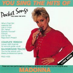 PSG-1035 Madonna - Seattle Karaoke - Pocket Songs - English - CDG