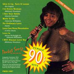 PSG-1087 Female Hits of the 90's - Seattle Karaoke - Pocket Songs - English - CDG