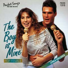 PSG-1313 The Boy Is Mine - Pop Female - Seattle Karaoke - Pocket Songs - English - CDG