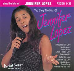 PSG-1432 Jennifer Lopez - Seattle Karaoke - Pocket Songs - English - CDG