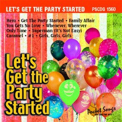 PSG-1560 Let's Get the Party Started - Seattle Karaoke - Pocket Songs - English - CDG
