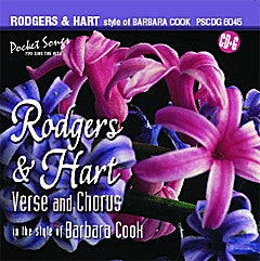 PSG-6045 Rodgers & Hart in the style of Barbara Cook - Seattle Karaoke - Pocket Songs - English - CDG