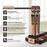 MagicSing-E5 Dual Wireless Streaming Karaoke Microphone System + 5,145 songs built-in & comes with a 1-Year Subscription card)
