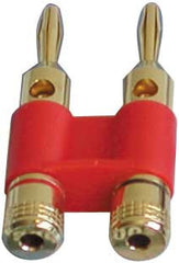 ACC-3167 Dual Banana Plugs (Brass, Gold-Plated) - Seattle Karaoke - Audio 2000 - Accessories