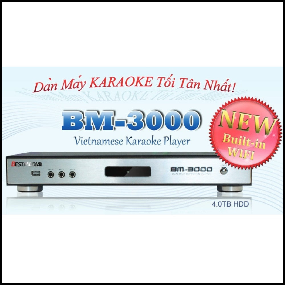 Vietnamese Hard Drive Karaoke Player w/ over 29,000 songs<br>BestMedia BM-3000