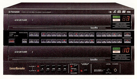 Rental Pioneer Dual Tray Heavy Duty Laser Disc Player - Seattle Karaoke - Rental - Rental Players: CD/CDG/SuperCDG/DVD/VCD/LaserDisc