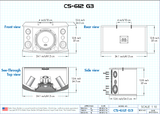 "Better Music Builder: CS-612 G3<br>Passive 12"" 300W+300W 3-Way Speakers - Seattle Karaoke - Better Music Builder - Speakers - 4"