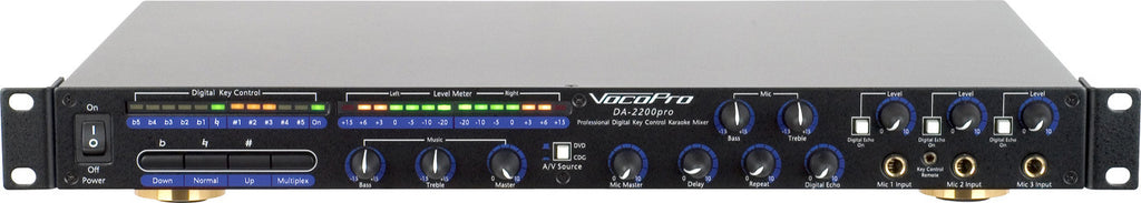 VocorPro: DA-2200<br>Mixer with 11-Step Digital Key Controller - Seattle Karaoke - VocoPro - Mixers & Key Controllers - 1