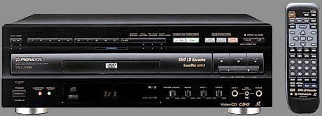 Rental Pioneer Laser Disc/CDG/DVD(Region 1)/CD Player - Seattle Karaoke - Rental - Rental Players: CD/CDG/SuperCDG/DVD/VCD/LaserDisc
