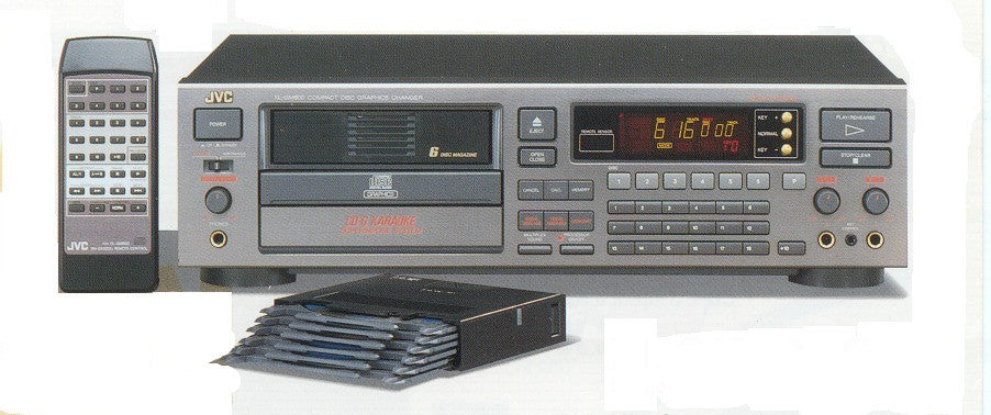 Rental JVC Semi-Auto 6+1 CDG Changer - Seattle Karaoke - Rental - Rental Players: CD/CDG/SuperCDG/DVD/VCD/LaserDisc
