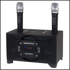 VocoPro: KaraokeDual<br>100W Karaoke System with Dual Wireless Microphones<br><font color='white'>--</font>