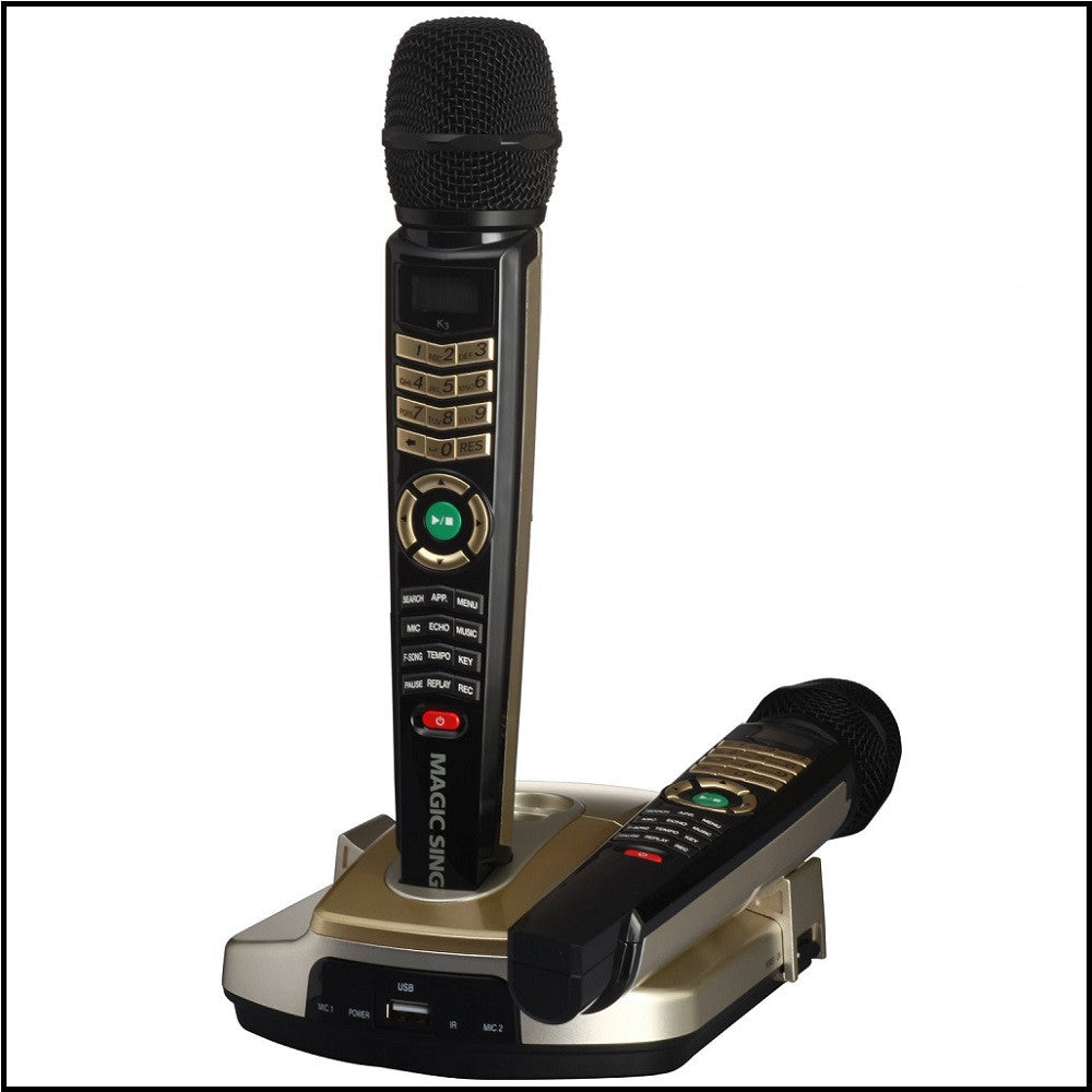 ET-23KH SP Dual Wireless HD Magic Sing with 2,000 Spanish & English Songs