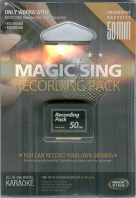 Recording Pack (for OnStage, ED-8000 & ED-11000) - Seattle Karaoke - EnterTech - Magic Sing: handheld/chips