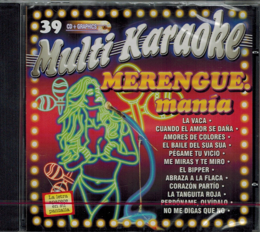 OKE-039 Merengue Mania - Seattle Karaoke - Multi Karaoke - Spanish - CDG