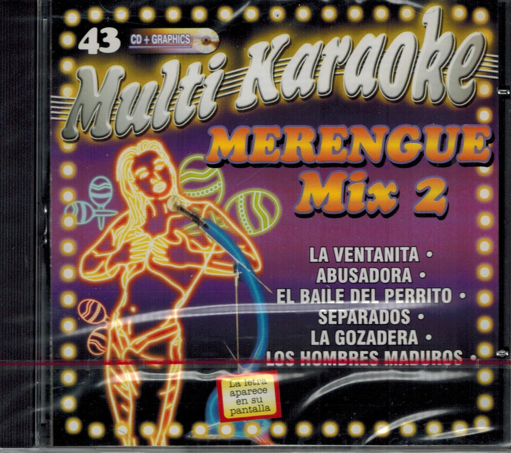 OKE-043 Merengue Mix #2 - Seattle Karaoke - Multi Karaoke - Spanish - CDG