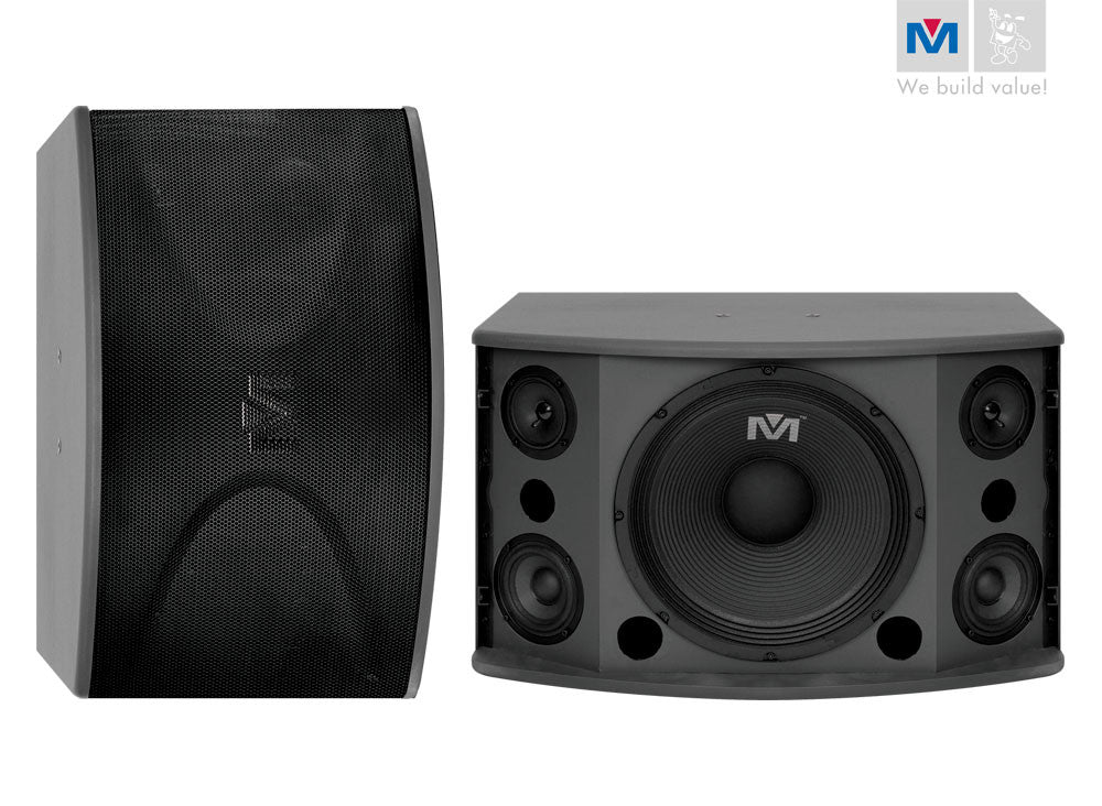 "Better Music Builder: CS-612 G3<br>Passive 12"" 300W+300W 3-Way Speakers - Seattle Karaoke - Better Music Builder - Speakers - 1"