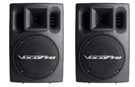 "VocoPro: PV-802<br>Active/Powered 8"" 200W+200W 2-Way Speaker System - Seattle Karaoke - VocoPro - Speakers - 1"