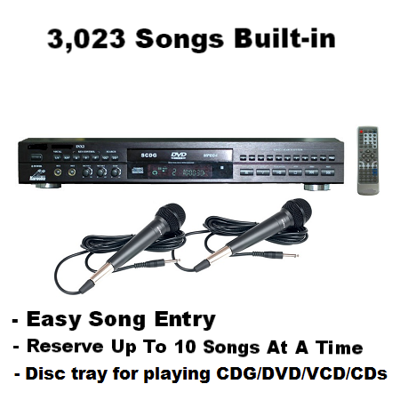 Rental Package B:<br>Player with 3,023 English songs - Seattle Karaoke - Rental - Systems w/ English Songs - 1