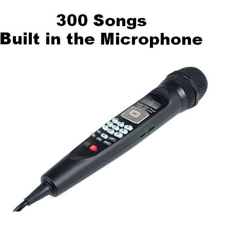 Rental Package PARTY SONGS:<br>Handheld Mic System with 300 Party Songs - Seattle Karaoke - Rental - Systems w/ English Songs - 1