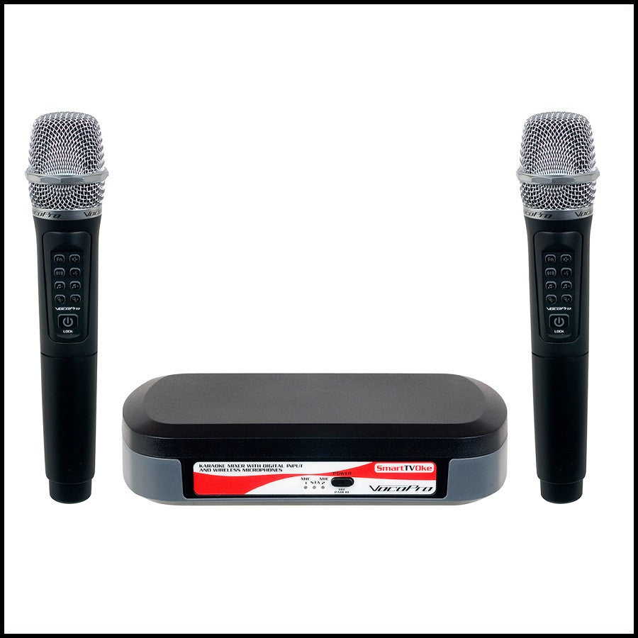 VocoPro: SmartTVOke<br>SmartTV System with Digital Input and Wireless Microphones<br><font color='white'>--</font>