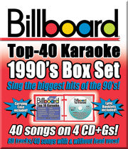 SYB-4433 1990's BILLBOARD TOP 40 KARAOKE BOX SET - Seattle Karaoke - Party Tyme/ Sybersound - English - CDG Packs:<br>_________Party Tyme Packs