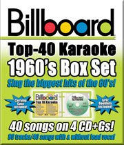 SYB-4434 1960's BILLBOARD TOP 40 KARAOKE BOX SET - Seattle Karaoke - Party Tyme/ Sybersound - English - CDG Packs:<br>_________Party Tyme Packs